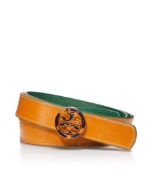 "Tory Burch 1"" Enamel Logo Belt"