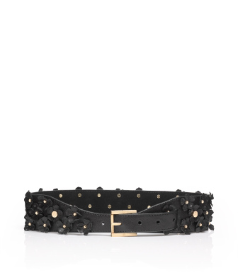 Tory Burch Flower Embellished Belt