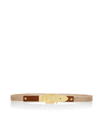 Tory Burch Metallic Braid Ellie Belt