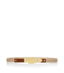 Tory Burch Ellie Metallic-flechtgürtel