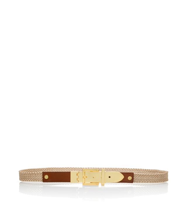 Metallic Braid Ellie Belt