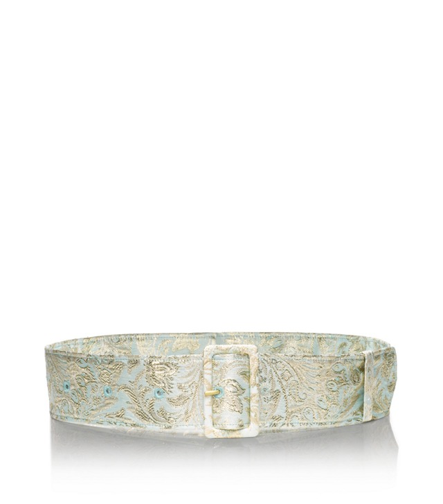 Mint Jacquard Sash Belt