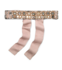 Tory Burch Embellished Grosgrain Belt