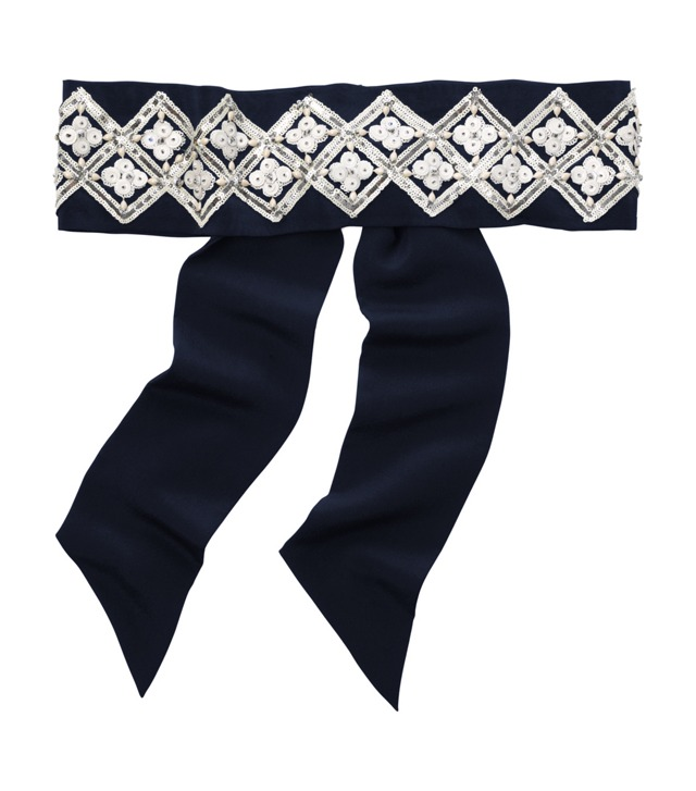 Diamond Embroidered Sash / Headband