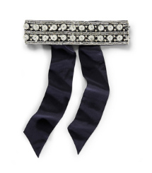 Tory Burch Triple Stripe Embellished Sash Belt