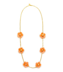 FLORA ROSARY | CORNELIAN/LIGHT SMOKE TOPAZ | 605
