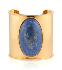 Tory Burch Large Oval Stone Cuff