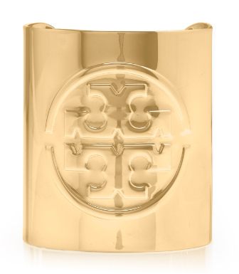 Gold Tory Burch Metal Logo Cuff