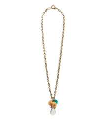Tory Burch Raffia Crystal Pendant Necklace