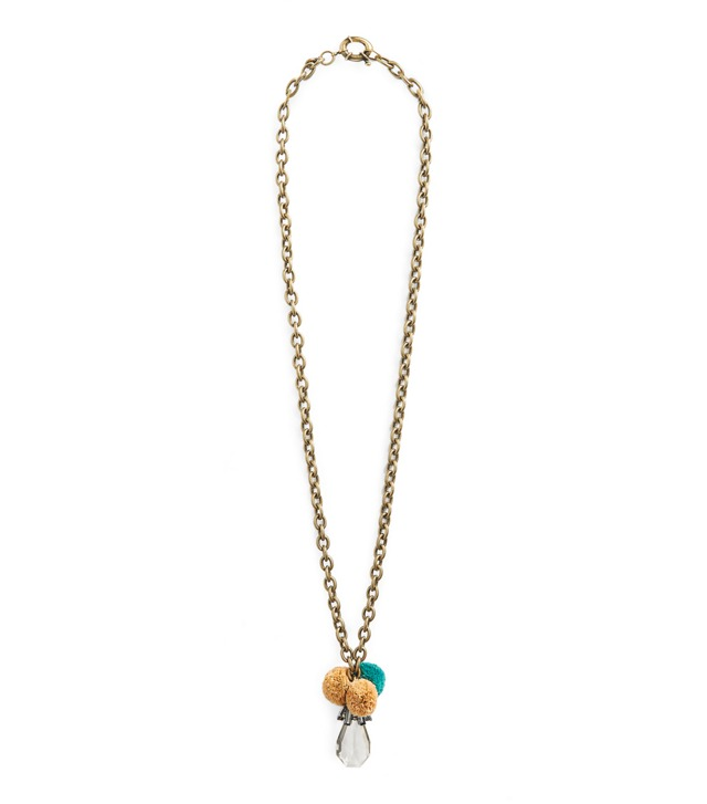 RAFFIA CRYSTAL PENDANT NECKLACE
