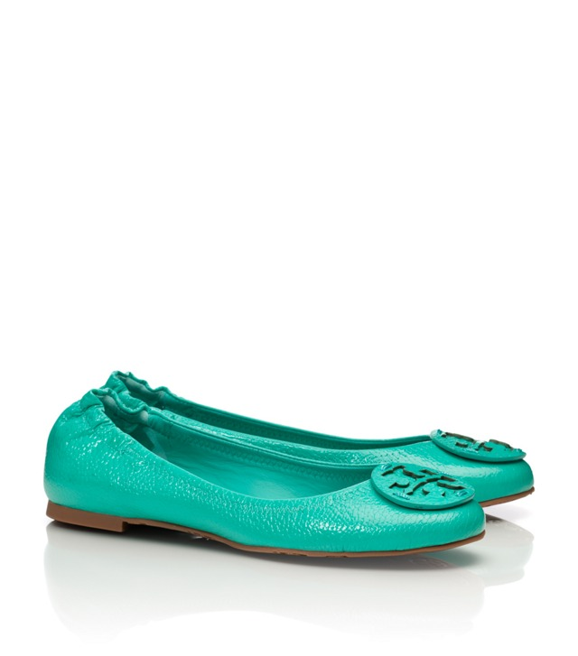 Tumbled Leather Reva Ballet Flat