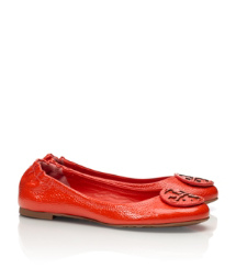 REVA-TUMBLED PATENT GRAIN (TONAL LOGO) | FLAME RED | 601