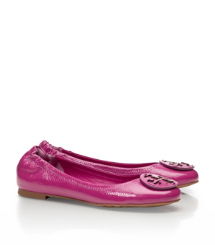Party Fuschia Tory Burch Reva Ballerina Aus Walkleder