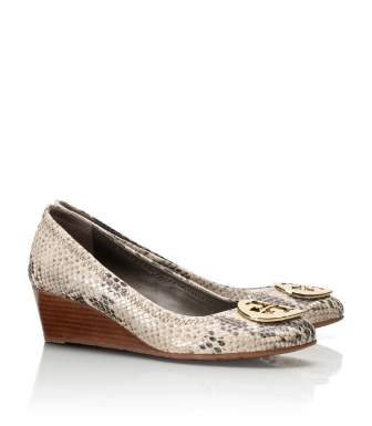 Tory Burch Python Print Molly Wedge