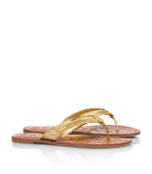 Tory Burch Thora Sandale Mit Metallic-schlangendruck