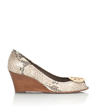 Tory Burch Python Printed Sally Wedge