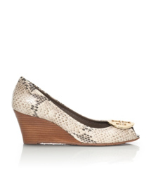 Tory Burch Sally Keilschuh Mit Pythondruck