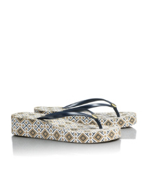 THANDIE FLIP FLOP | NORMANDY BLUE- T PRINT | 425