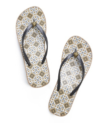Normandy Blue- T Print Tory Burch Thandie Flip-flop