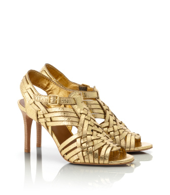 Tory Burch Mirror Metallic Nadia Sandal