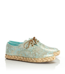 Tory Burch Walden Matelassé-flat In Metallic