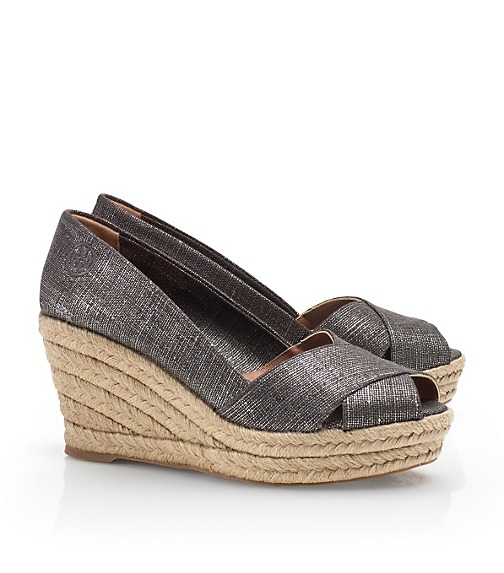 Metallic Filipa Espadrille Wedge
