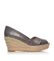 Tory Burch Metallic Filipa Espadrille Wedge