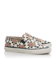 MILES SNEAKER- PRINTED CANVAS/VEG LEATHER | SINTRA B/ROYAL TAN/TORY NAVY | 973