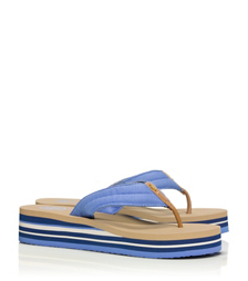 Tory Burch Canvas Wedge Flip-flop