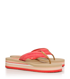 CANVAS WEDGE FLIP-FLOP