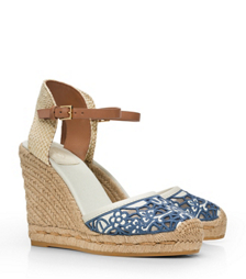 LUCIA LACE WEDGE ESPADRILLE