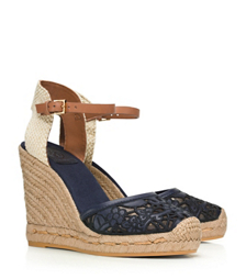 Tory Burch Lucia Lace Wedge Espadrille