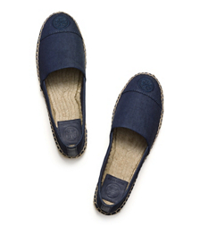 Tory Burch Denim Flat Espadrille