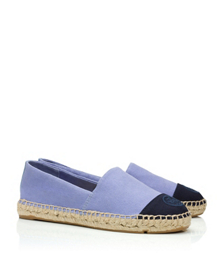 Light Mosaic/tory Navy/mosaic Blue Tory Burch Color-block Flat Espadrille