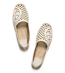 Tory Burch Thatched Perforated Flat Espadrille