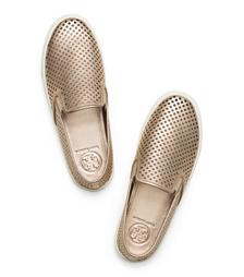 Tory Burch Jesse Metallic Perforated Sneaker