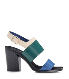 Greek Blue/landscape/dulce De Leche Tory Burch Essex Sandal