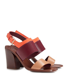 Natural Blush/claret/poppy Coral Tory Burch Essex Sandal
