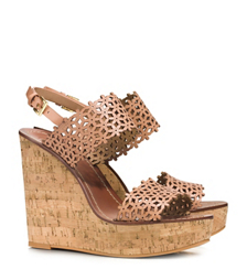 Tory Burch Floral Perforated Wedge Sandal