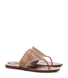 FLORAL PERFORATED FLAT THONG SANDAL