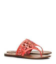 THATCHED PERFORATED THONG SANDAL