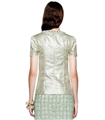 Tory Burch Lola Metallic Top