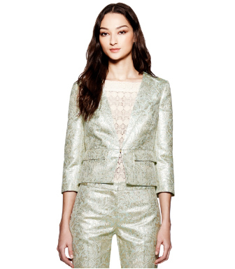 Tory Burch Lola Metallic Jacket