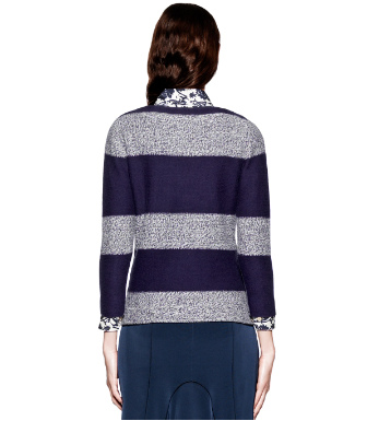 French Blue/vanilla Cake Tory Burch Becky Sweater