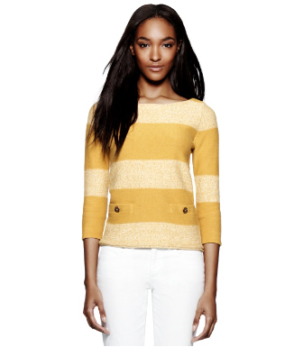 Golden Sun/vanilla Cake Tory Burch Becky Sweater