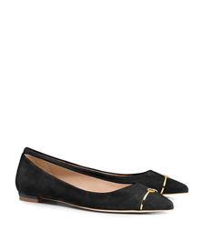 Black/black Tory Burch Bar Logo Flat