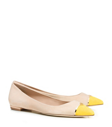 Dulce De Leche/banana Yellow Tory Burch Bar Logo Flat