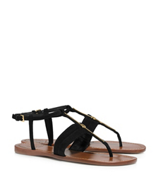 Tory Burch Bar Logo Flat Sandal