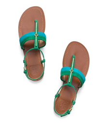 Tory Burch Bar Logo Flat Sandal