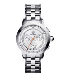 Tory Burch 不锈钢/银色计时腕表,37 毫米
